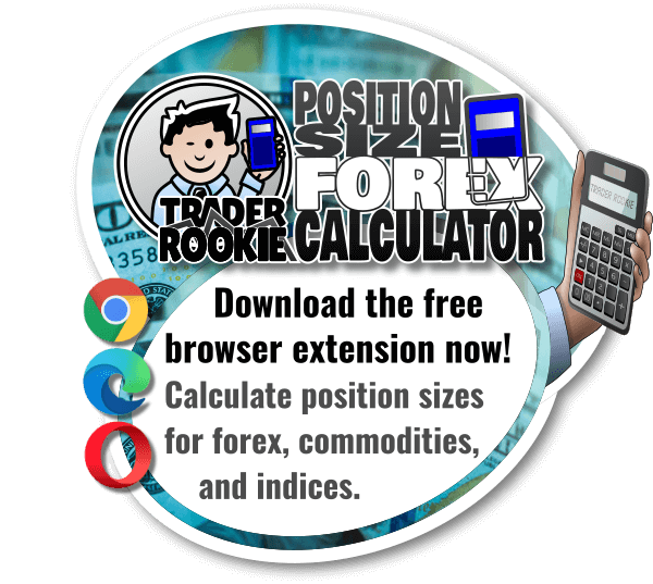 download the TraderRokkie forex position size calculator extension pop-up