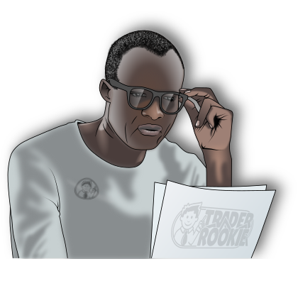 afro american man reading TraderRookie papers to learn day trading for beginners